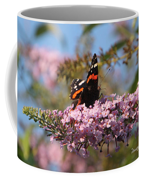 Red Admiral Coffee Mug featuring the photograph Red Admiral by Ericamaxine Price