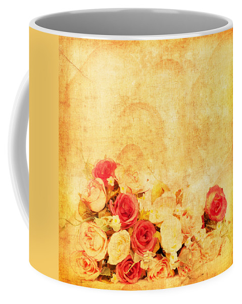 Abstract Coffee Mug featuring the photograph Retro Flower Pattern by Setsiri Silapasuwanchai