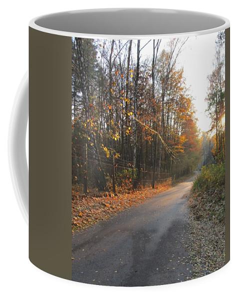 Colour Coffee Mug featuring the photograph Road by Wojtek Kowalski