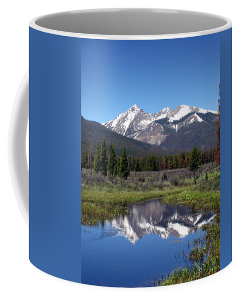 Altitude Coffee Mug featuring the photograph Rocky Mountains by Olivier Le Queinec