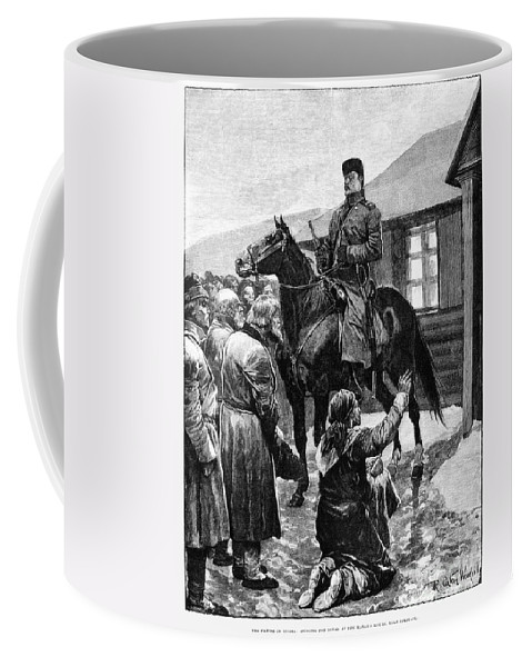 1892 Coffee Mug featuring the photograph Russia: Famine, 1892 by Granger