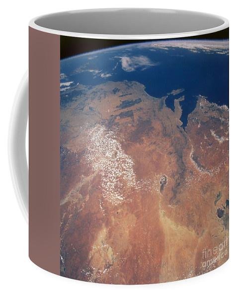 Color Image Coffee Mug featuring the photograph Satellite View Of Planet Earth by Stocktrek Images