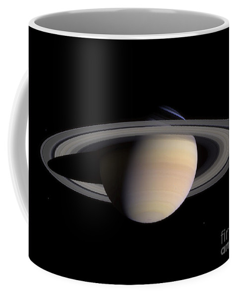 Color Image Coffee Mug featuring the photograph Saturn by Stocktrek Images