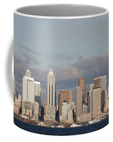 Seattle Coffee Mug featuring the photograph Seattle Skyline by Michael Merry