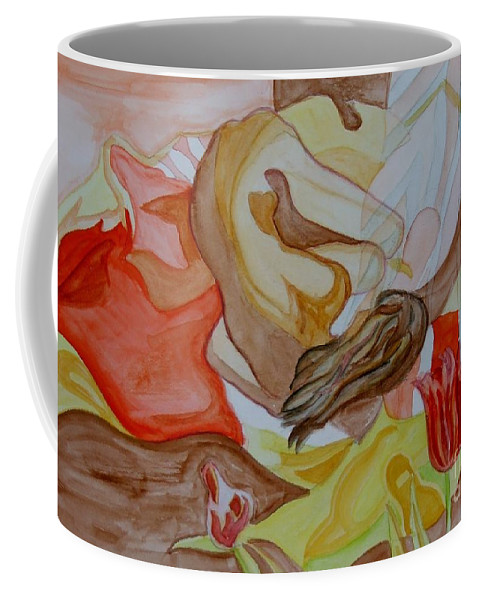 Reclining Woman Coffee Mug featuring the painting Siesta by Caroline Street