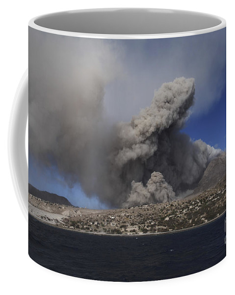 No People Coffee Mug featuring the photograph Soufriere Hills Eruption, Montserrat by Martin Rietze