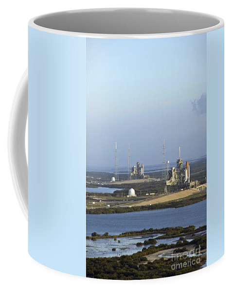 Florida Coffee Mug featuring the photograph Space Shuttle Atlantis And Endeavour by Stocktrek Images