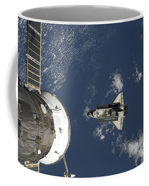 Aerial View Coffee Mug featuring the photograph Space Shuttle Endeavour, A Russian by Stocktrek Images