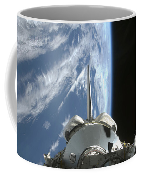Horizontal Coffee Mug featuring the photograph Space Shuttle Endeavours Payload Bay by Stocktrek Images