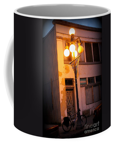 Seward Coffee Mug featuring the photograph Stop For A Spell by Kathy White