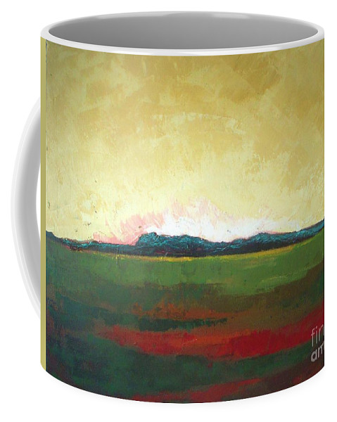 Landscape Coffee Mug featuring the painting Sunrise by Vesna Antic