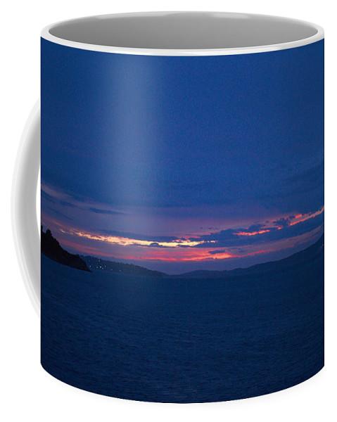 2012 Coffee Mug featuring the photograph Sunset In Mali Drvenik by Jouko Lehto