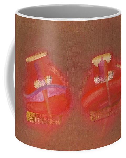 Tavira Coffee Mug featuring the painting Tavira Boats by Charles Stuart