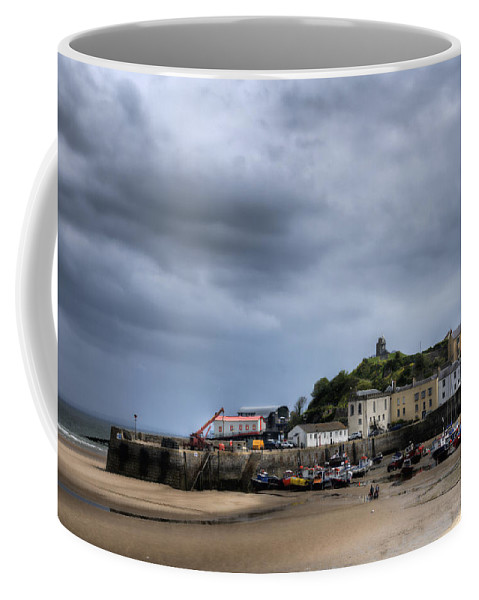 Tenby Pembrokeshire Coffee Mug featuring the photograph Tenby Harbour From North Beach 2 by Steve Purnell