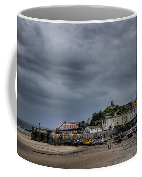 Tenby Pembrokeshire Coffee Mug featuring the photograph Tenby Harbour From North Beach 3 by Steve Purnell
