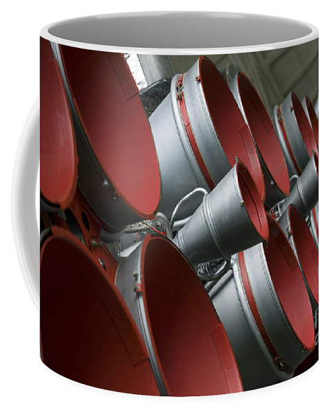 Tma-14 Coffee Mug featuring the photograph The Boosters Of The Soyuz Tma-14 by Stocktrek Images