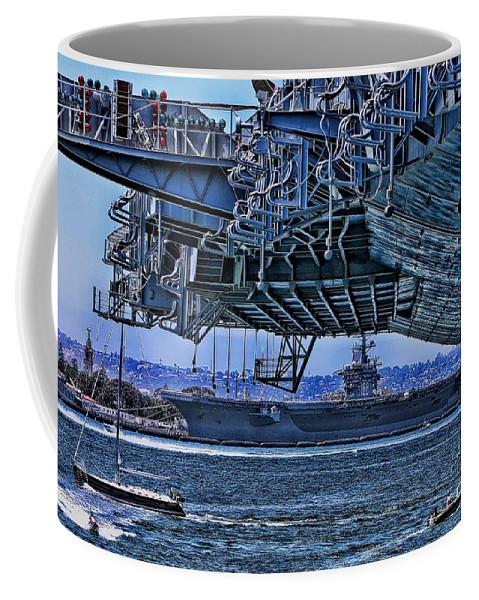 Aircraft Carriers Coffee Mug featuring the photograph The Carriers by Tommy Anderson