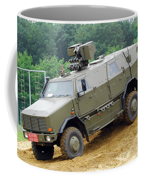4x4 Coffee Mug featuring the photograph The Dingo 2 Mppv Of The Belgian Army by Luc De Jaeger