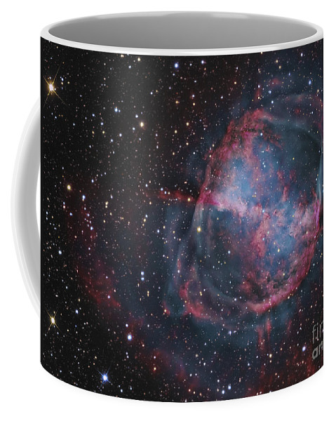 Deep Space Coffee Mug featuring the photograph The Dumbbell Nebula by R Jay GaBany