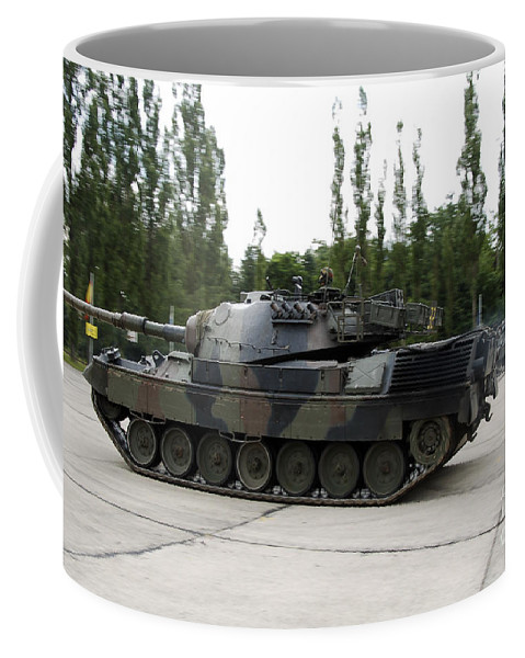 Adults Only Coffee Mug featuring the photograph The Leopard 1a5 Of The Belgian Army by Luc De Jaeger