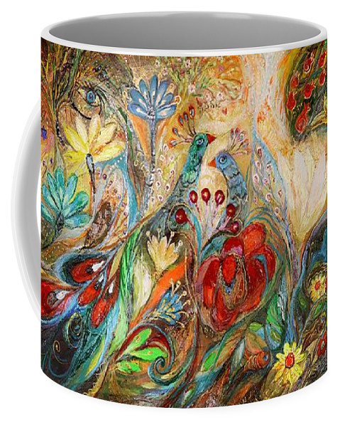 Judaica Coffee Mug featuring the painting The Mediterranean Summer by Elena Kotliarker