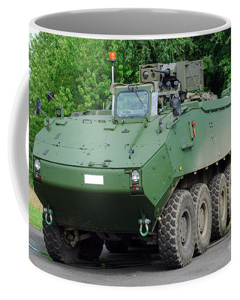 Armament Coffee Mug featuring the photograph The Piranha IIic Of The Belgian Army by Luc De Jaeger