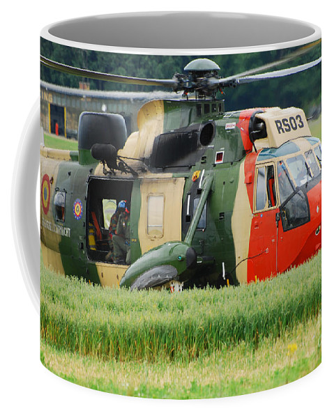 Adults Only Coffee Mug featuring the photograph The Sea King Helicopter Of The Belgian by Luc De Jaeger