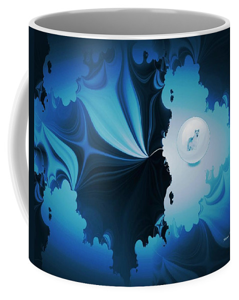 Wolf Coffee Mug featuring the digital art The Wolf Within by Maria Urso