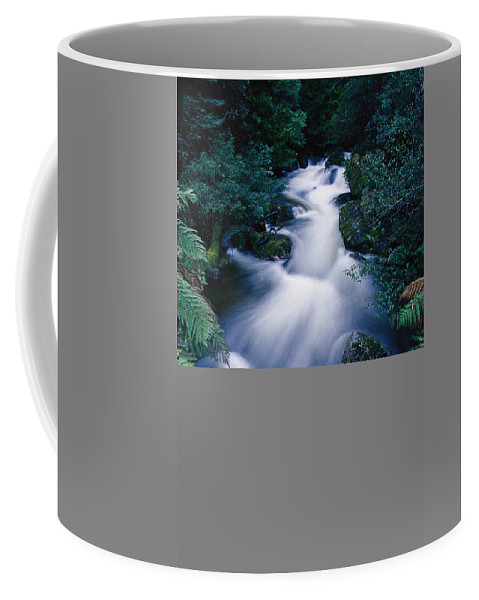 Water Coffee Mug featuring the photograph Time Lapse Of Taggerty River Flow by Jason Edwards