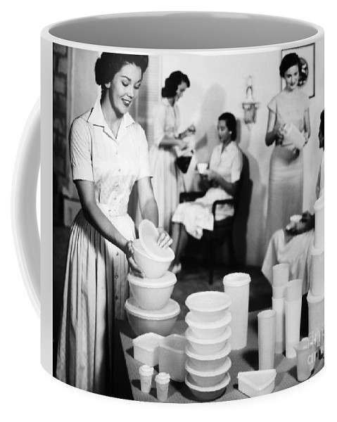 1950s Coffee Mug featuring the photograph TUPPERWARE PARTY, 1950s by Granger