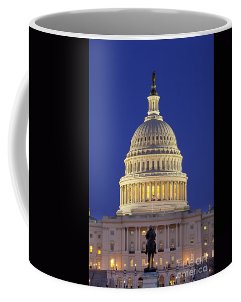 Capital Coffee Mug featuring the photograph Twilight Over Us Capitol 1 by Brian Jannsen
