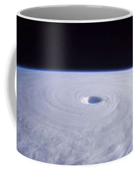 White Coffee Mug featuring the photograph Typhoon Nabi by Stocktrek Images