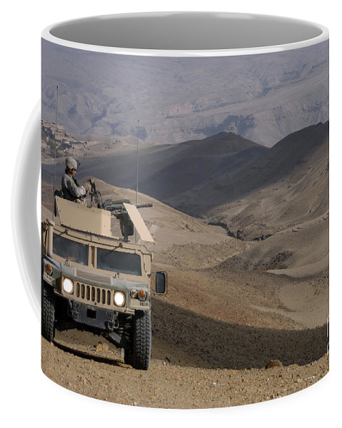 Adults Only Coffee Mug featuring the photograph U.s. Army Soldier Provides Security by Stocktrek Images