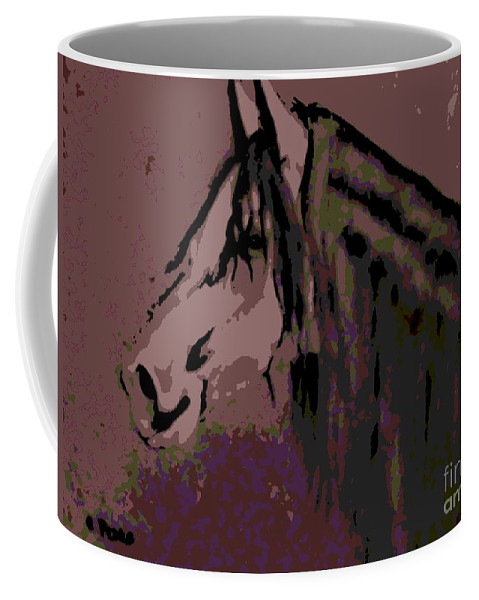 Horse Coffee Mug featuring the painting Vash The Stampede by George Pedro