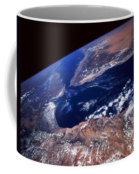 Horizontal Coffee Mug featuring the photograph Water And Land by Stocktrek Images