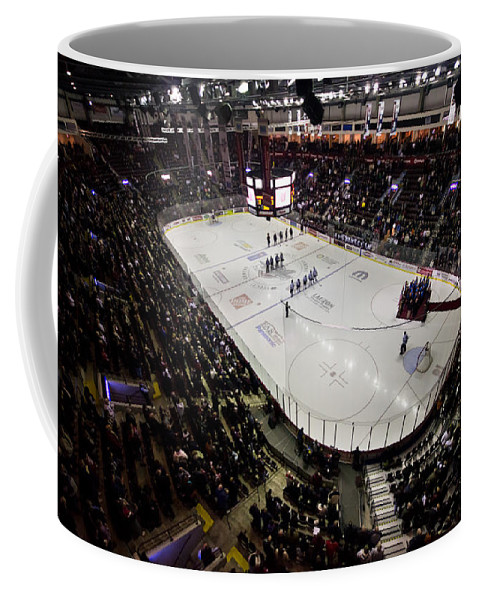 Hockey Coffee Mug featuring the photograph Wfcu Centre by Cale Best