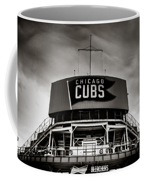 Chicago Coffee Mug featuring the photograph Wrigley Field Bleachers In Black And White by Anthony Doudt