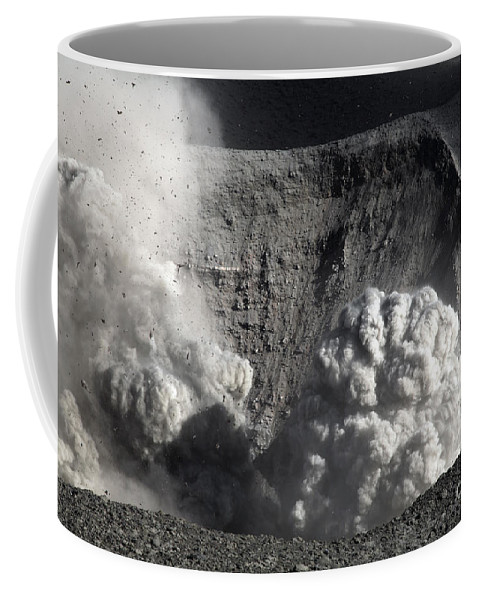 No People Coffee Mug featuring the photograph Yasur Eruption, Tanna Island, Vanuatu by Martin Rietze