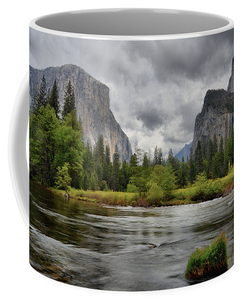 Yosemite Coffee Mug featuring the photograph Yosemite's Valley View by Lynn Bauer