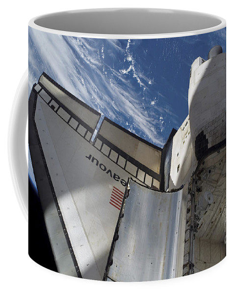 American Coffee Mug featuring the photograph Space Shuttle Endeavour by Stocktrek Images