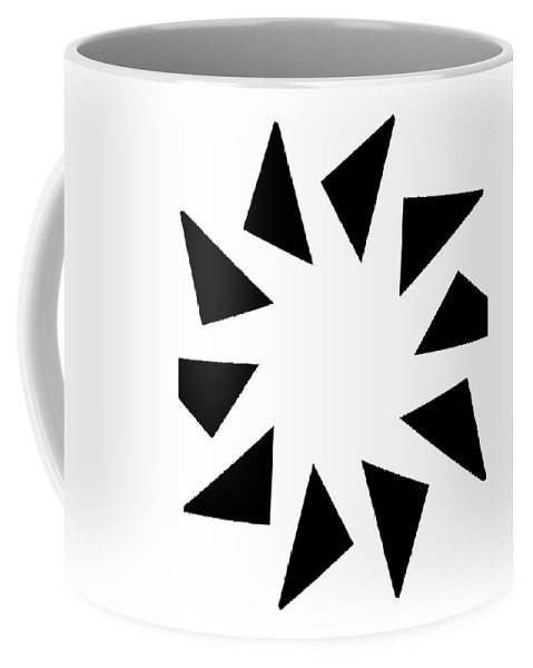 Form Forms Black White Triangle Geometric Abstract Art Minimalism Spiral Digital Painting Coffee Mug featuring the digital art 10 by Steve K