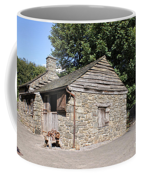 Architecture Coffee Mug featuring the digital art St Fagans Museum by Carol Ailles