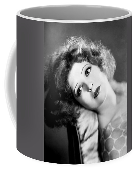 1930s Coffee Mug featuring the photograph Clara Bow (1905-1965) by Granger