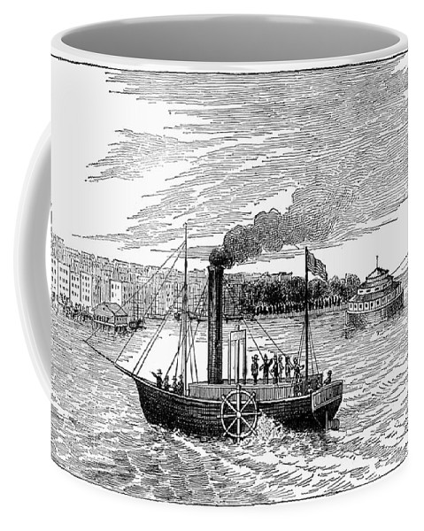 1902 Coffee Mug featuring the photograph Robert Fultons Clermont by Granger