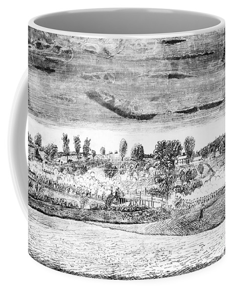 1775 Coffee Mug featuring the photograph Battle Of Concord, 1775 by Granger