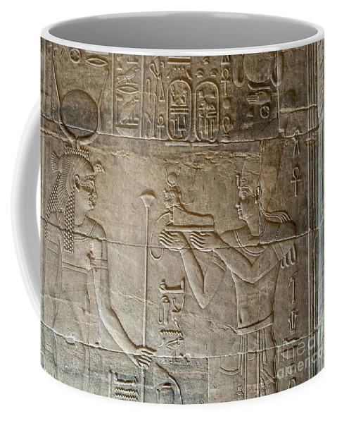 Egypt Nile Philae Nubian Coffee Mug featuring the digital art Philae by Carol Ailles