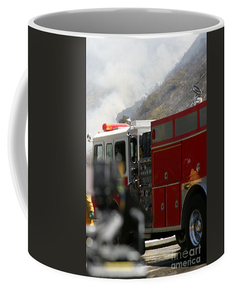 Ash Coffee Mug featuring the photograph Barnett Fire by Henrik Lehnerer