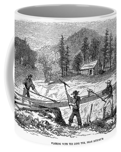 1850s Coffee Mug featuring the photograph California Gold Rush by Granger
