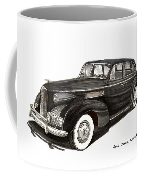 1939 Lasalle Coffee Mug featuring the painting 1939 Lasalle Sedan Classic by Jack Pumphrey