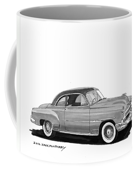 1951 Chevrolet Coupe Coffee Mug featuring the painting 1951 Chevrolet Coupe by Jack Pumphrey